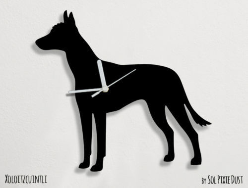 Xoloitzcuintle Dog Silhouette - Wall Clock