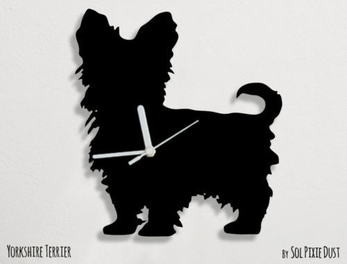 Yorkshire Terrier Dog Silhouette - Wall Clock