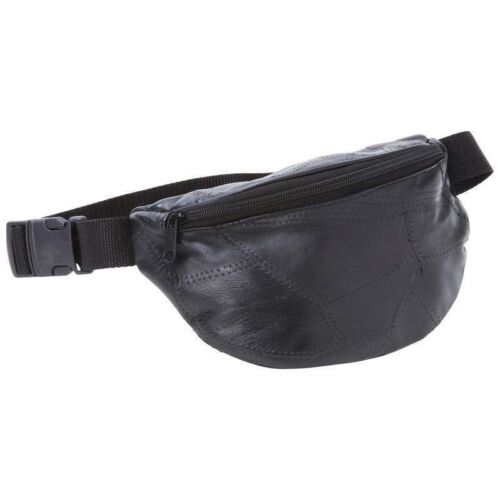 New Black Leather FANNY PACK Belt Bag Purse Hip Single Pouch Waist Sports Travel