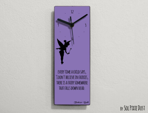 Tinker Bell Fairytale -Every time a child says, 'I don't believe .. - Wall Clock