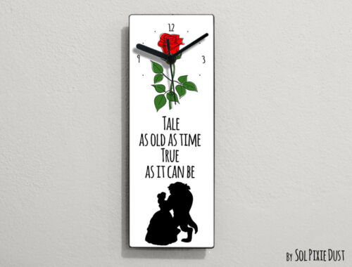 Beauty and the Beast -Tale as old as time ,True as it can be - Wall Clock