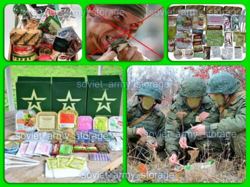 Russian Army MILITARY MRE (DAILY FOOD RATION PACK) Emergency Food Military+Gift Other Militaria - 135