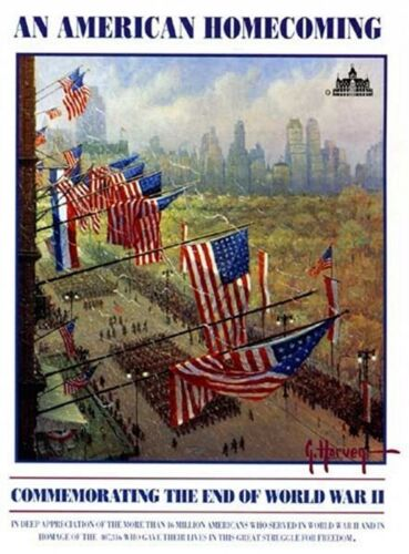 """G. Harvey """"An American Homecoming"""" Open Edition Print Commemorating End WWII"""