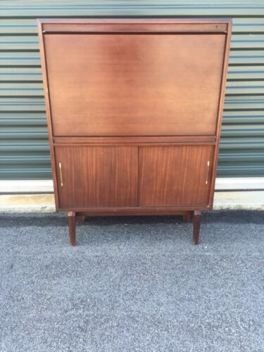 Mid Century Modern Mahogany Multi Width From Beaver and Tapley Compact Desk