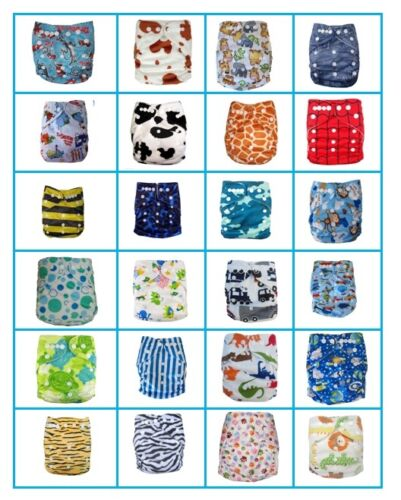 New Reusable Modern Baby Cloth Nappies All Size Diapers Print newborn - toddler