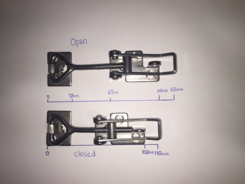 Toggle Latch 304 Stainless Steel Over Center 78-87mm LOCKABLE Qty 1