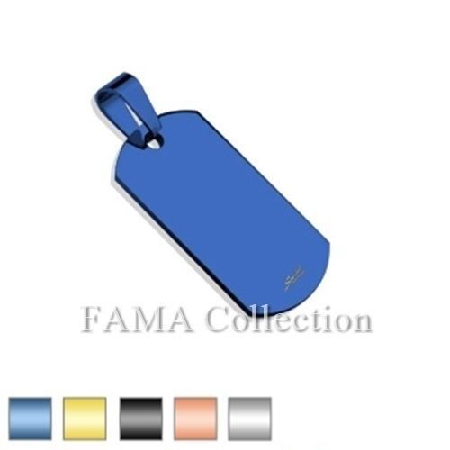 FAMA Small Dog Tag 316L Stainless Steel Engravable Pendant Select Colour
