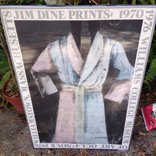 Jim Dine•Prints 1970•Williams College Museum•early Litho Poster 25x35 REDUCED