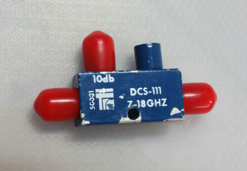 TRM Microwave 10dB 7-18Ghz Directional Coupler SMA
