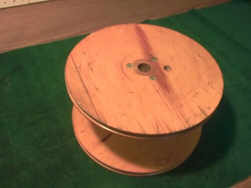 """Large Old Wood Industrial Textile Spool from Weaving Mill - 10"""" Diam X 5"""" Tall"""