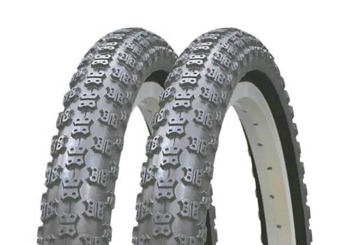 OLD SCHOOL BMX ALL BLACK COMP 3 ALL BLACK TYRES 20 X 2.125 SOLD IN PAIRS