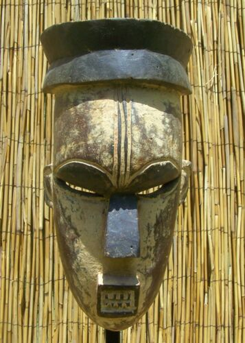 African Igbo  or Urhobo Mask From Nigeria 14""