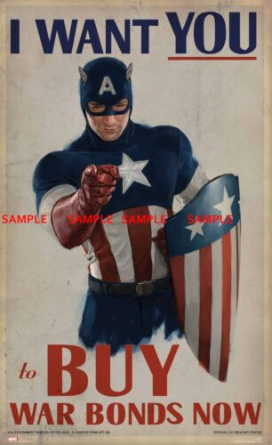 """Captain America ( 11"""" x 17"""" ) Collector's Poster Print (T2) - B2G1F"""