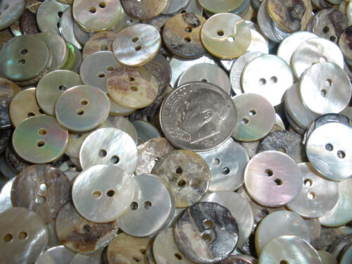 """Pearly white MOP buttons 72pcs real shell agoya 1/2"""" mother of pearl 13MM 20L 2H"""