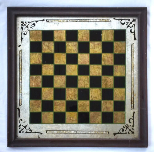 Outstanding Antique 19th c. Reverse Painted Game Board