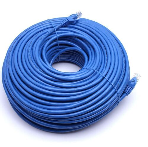 150FT CAT6 Cable Ethernet Lan Network CAT 6 RJ45 Patch Cord Internet Blue NEW