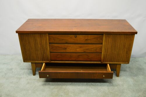 Lane Mid Century Modern Walnut Blanket Hope Chest Trunk