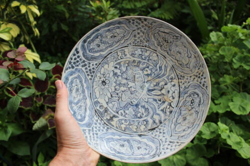 Genuine Chinese porcelain plate, Ming dynasty, shipwreck, circa 1608 AD