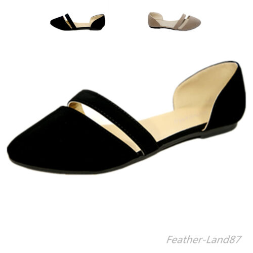 New Women Pointy Toe Classy Sandals Open Sides  Ballet Flat Shoes #2938
