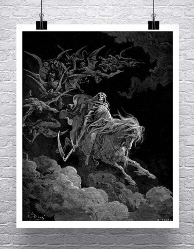 The Vision of Death Gustave Dore Fine Art Rolled Canvas Giclee Print 24x29 in.