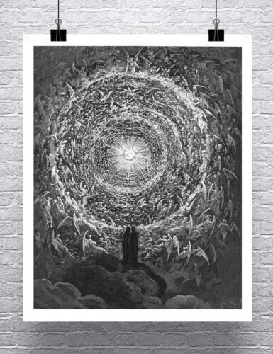 Paradise Gustave Dore Engraving Rolled Fine Art Canvas Giclee Print 24x30 in.
