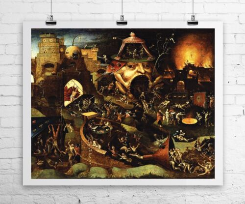 Christ in Limbo Hieronymus Bosch Religious Rolled Canvas Giclee Print 24x20 in.
