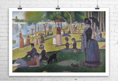 Sunday on the Island of La Grande Jatte 1884 George Seurat Canvas Giclee 30x20