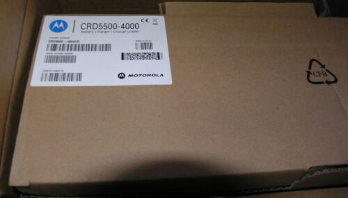 Motorola CRD5500-4000CR Quad Bay Charger with Ac Adaptor   Brand New in Box
