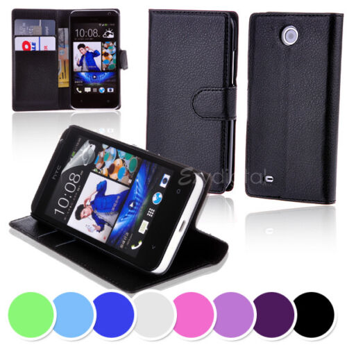 New Wallet Leather Case Cover - HTC Desire 300
