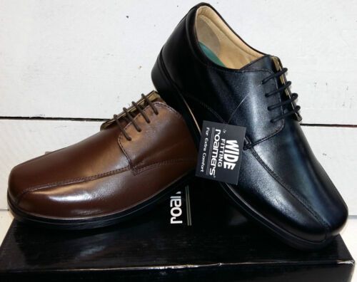 Men's Roamer Wide Fit Leather Lace Up Shoes