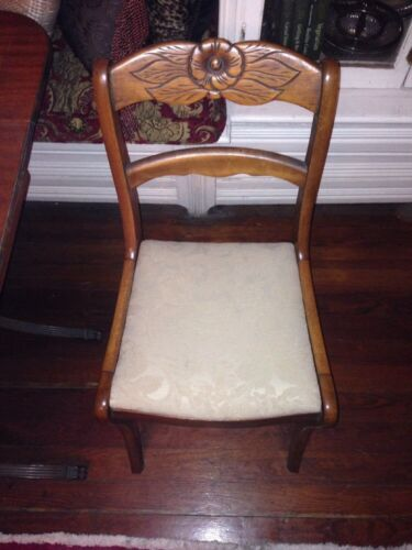 Antique Rose Back Dining Chairs Quantity Four (4)