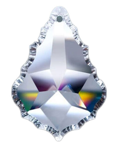 Set of 10 - 50 mm - Clear Asfour Crystal 911 Pendeloque Crystal Prisms, 1 Hole