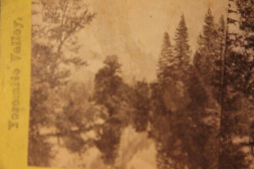 Antique Stereograph Stereoview Card Yosemite's Valley California Late 1800's