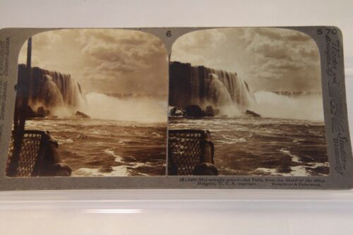 Antique Stereograph Stereoview Maid of the Mist Niagara Falls Underwood Studio