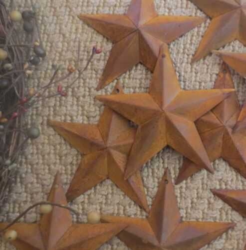 "Set of 10 Rusty Barn Stars 5.5 in 5 1/2"" Dimensional Rustic Country SHIPS FREE!"