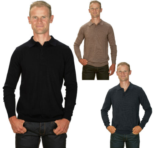 Ugholin Men's Cashmere Regular Fit Polo Jumper