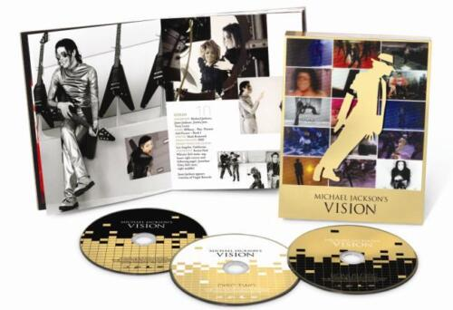 "MICHAEL JACKSON VISION ULTIMATE 35 SHORT FILM DVD BOX SET 3 DISC R4 ""NEW&SEALED"""