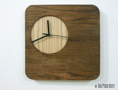 Wooden Simply Square - Wood Wall Clock