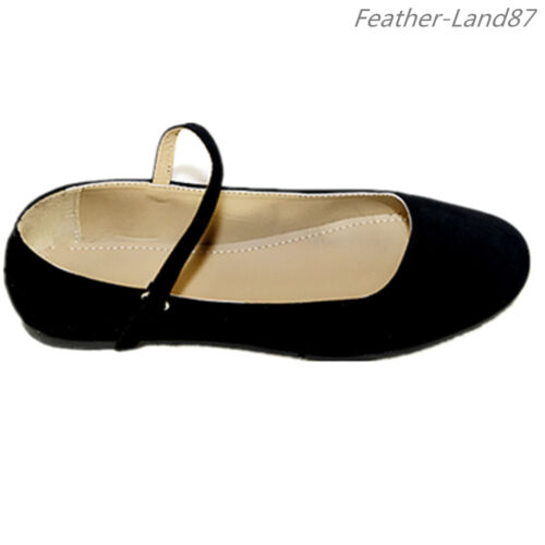 New Women Black Mary Jane Shoes  Ballet Classic Ballerina Flats #2862