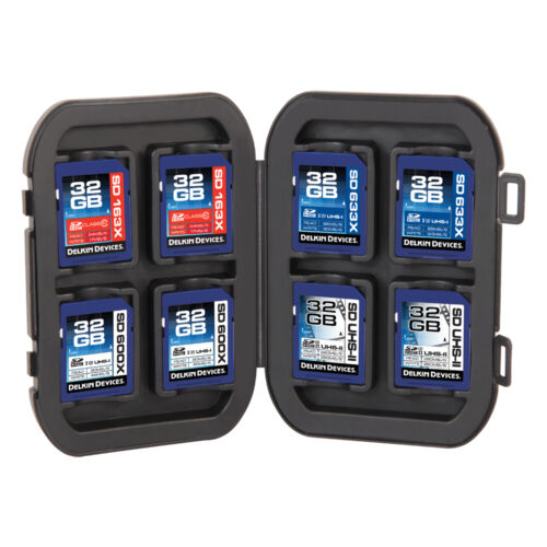 Delkin Devices 8 SD Memory Card Crushproof Tote Case (DDACC-SD8) Secure Digital