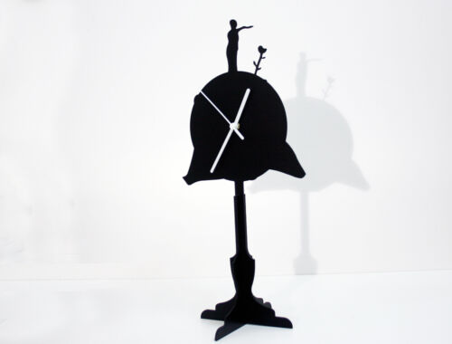 The Little Prince - Le Petit Prince - Asteroid B-612 - Silhouette Table Clock