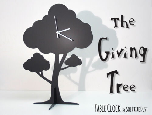 The Giving Tree - Silhouette Table Clock