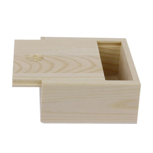 Small Plain Wooden Storage Box Case for Jewellery Small Gadgets Wood color LW