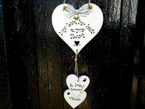 🐾 New Personalised Pet Dog memorial, pet loss sign, gift/ plaque/ heart 🐾