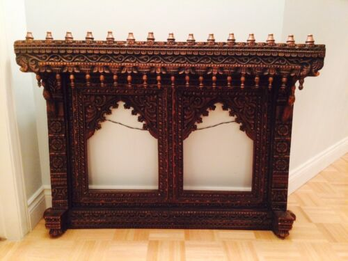 Wooden Antique Hand Carved Double Frame - RARE
