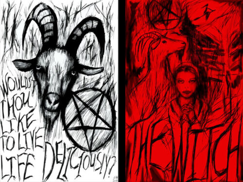 """""""The Witch"""" Black Phillip 2 print lot 11 x 17 High Quality Poster"""
