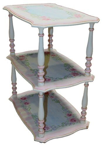 Hand-painted Three-tier Table / Nightstand