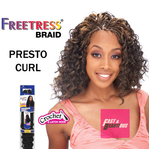 Freetress Premium Synthetic Hair Braid Crochet  - PRESTO CURL
