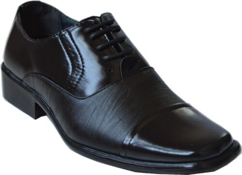 New Men's Lace-Up Oxfords Wedding Formal Church Party Dress Shoes Black gav