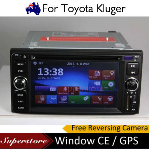 6.2 inch CAR DVD GPS Player Stereo navi head unit For Toyota Kluger 2007-2013